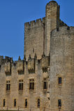 Medieval castle of Roquetaillade in Gironde Royalty Free Stock Photos