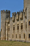 Medieval castle of Roquetaillade in Gironde Royalty Free Stock Photo