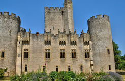 Medieval castle of Roquetaillade in Gironde Royalty Free Stock Images