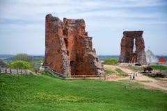 Medieval castle ruin in Novogrudok town in Belarus Royalty Free Stock Image
