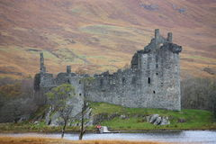 Medieval castle. Ruin in scotland Stock Photography