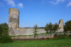 Medieval castle ruin. On a sunny day Royalty Free Stock Image