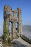 Medieval castle ruin. On a sunny day Stock Photography