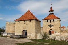 Medieval castle ruins in Bender, Transnistria Stock Image