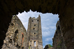 Medieval Castle Ruins Okor Stock Image