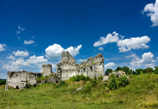 Medieval castle ruins Royalty Free Stock Images