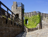 Within a Medieval Castle's Walls Royalty Free Stock Photography