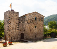 Medieval castle. Sant Joan les Fonts Stock Photos