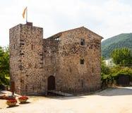 Medieval castle. Sant Joan les Fonts. Catalonia Stock Photos