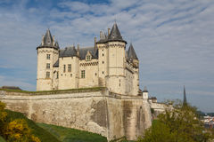 Medieval castle of Saumur, Loire Valley Stock Image