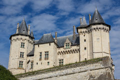 Medieval castle of Saumur, Loire Valley Stock Photo