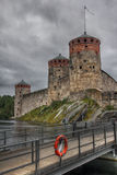 Medieval castle in Savonlinna. Finland. Stock Image