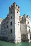 Medieval castle Scaliger in old town Sirmione on lake Lago di Ga Royalty Free Stock Photo