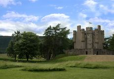 Medieval Castle in Scotland. Castle in Scotland Stock Photo