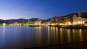 The medieval castle on the sea - Rapallo waterfront. The medieval castle on the Ligurian sea - Rapallo waterfront - Italy Royalty Free Stock Photo
