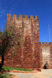 The medieval castle in Silves, Algarve, Portugal Stock Photography