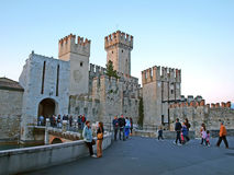 Medieval castle. Sirmione, Italy Royalty Free Stock Image