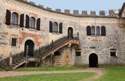 Medieval castle of Soave Royalty Free Stock Photo