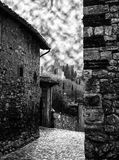 Medieval castle of Soave, Italy. Royalty Free Stock Images