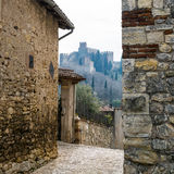 Medieval castle of Soave, Italy. Royalty Free Stock Image