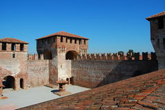 Medieval castle of Soncino, Lombardy, Italy Stock Photos