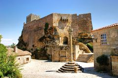 Medieval castle of Sortelha. Portugal Stock Photos