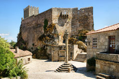 Medieval castle of Sortelha Stock Images