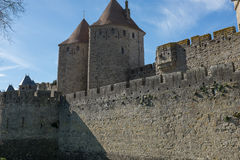 Medieval Castle in the South of France. A Medieval Castle in the South of France royalty free stock photography