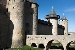 Medieval Castle in the South of France. A Medieval Castle in the South of France Royalty Free Stock Images
