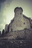 Medieval castle, spain architecture Royalty Free Stock Photos
