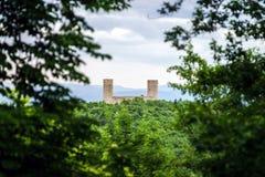 Medieval castle Spesbourg in Alsace Stock Images