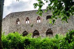 Medieval castle Spesbourg in Alsace Stock Photo