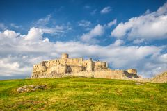 The medieval castle Spis. The medieval castle Spis, central Europe, Slovakia royalty free stock image