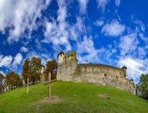 Medieval castle in Stara Lubovna. Castles in Slovakia - a medieval castle in Stara Lubovna stock image