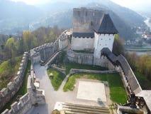 Medieval castle Stari Grad in Celje in Slovenia Royalty Free Stock Images
