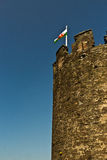 Medieval castle stone tower Royalty Free Stock Photography