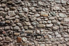 Medieval Castle Stone Wall Background Royalty Free Stock Image