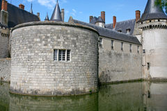 Medieval castle Sully-sur-loire, France Royalty Free Stock Images