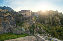 Medieval castle in sunlight Royalty Free Stock Photo