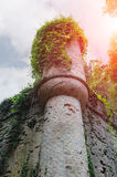 Medieval castle in sunlights. Villa Sorra, Stock Photography