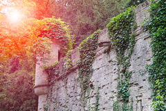 Medieval castle in sunlights. Villa Sorra, Stock Image