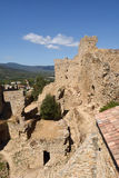 Medieval Castle , tenth century, Palafolls, Royalty Free Stock Photos