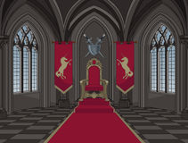 Medieval Castle Throne Room. Illustration of medieval castle throne room vector illustration