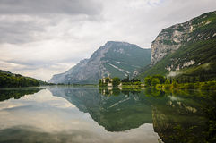 Medieval Castle on Toblino Lake, Trentino, Italy Royalty Free Stock Photo