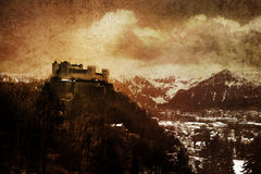 Medieval castle toned. Medieval castle - toned picture in retro style Royalty Free Stock Images