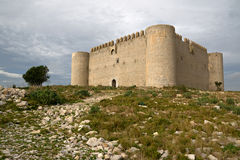 Medieval Castle of Torroella de Montgri Stock Photos