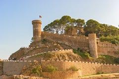 Medieval castle in Tossa de Mar, Spain Royalty Free Stock Photos