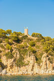 Medieval castle in Tossa de Mar, Spain Royalty Free Stock Images