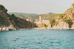 Medieval castle in Tossa de Mar, Spain Royalty Free Stock Image