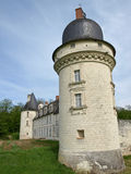 Medieval castle tower. In french province Royalty Free Stock Photography